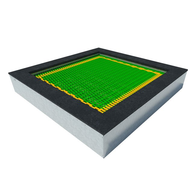 Large Outdoor Playground Bouncing Facility Trampoline