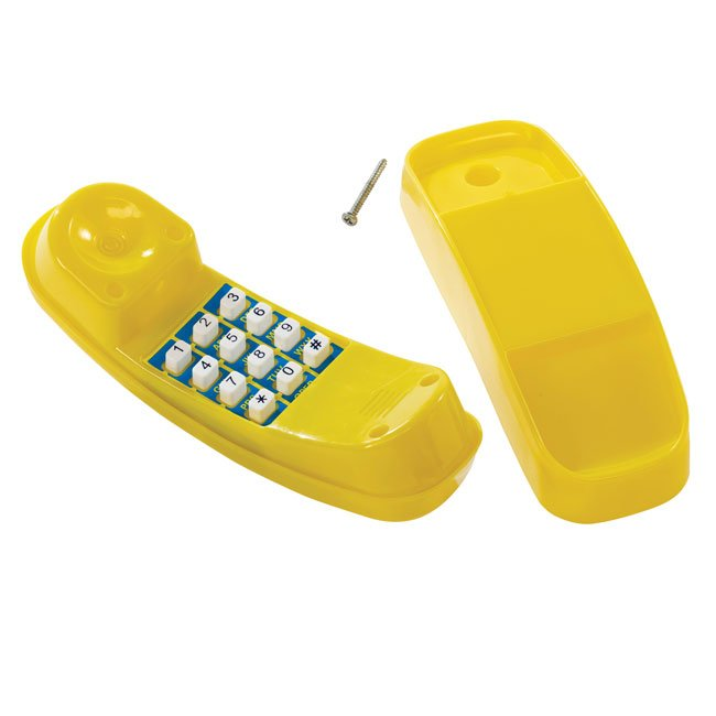 Toy Yellow Telephone For Use On Children's Garden Play Structures or Wendy House