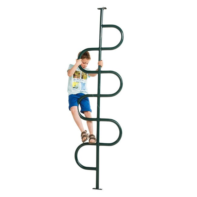 Climbing Tree In Green Powder Coated Steel For Mounting Onto Childrens Garden Play Tower