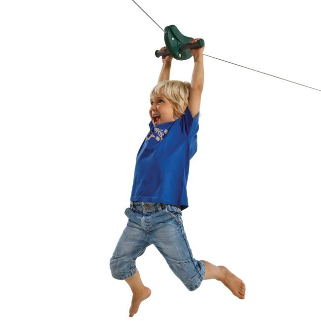 Children's Zip Wire Aerial Cableway Kit Including Cable And Tensioners Suitable Garden Installation