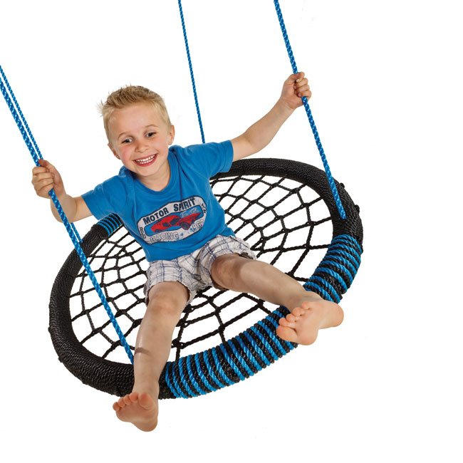 Childrens Garden Birds Nest Group Swing Seat Complete With Adjustable Suspension Ropes