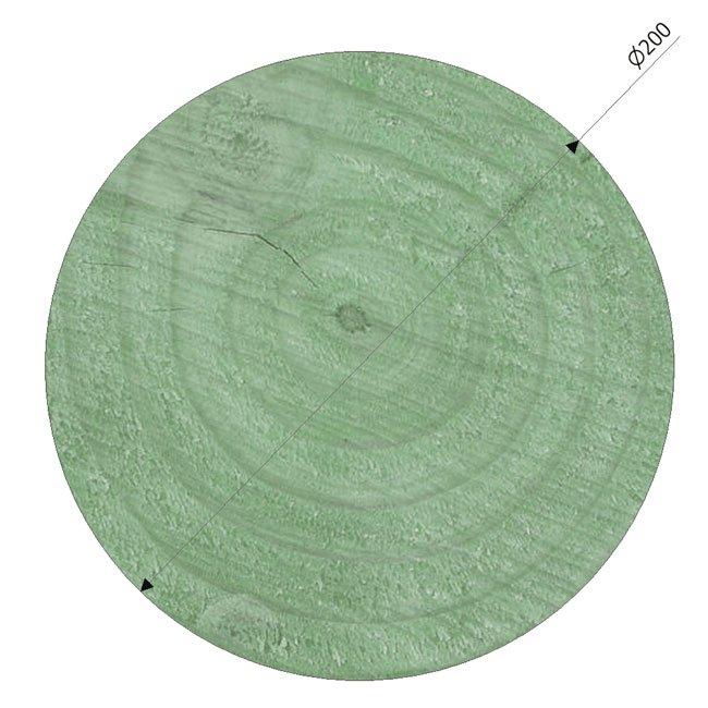 200mm Diameter Pressure Treated Radiata Pine Poles Suitable For Building And Maintaining Playground Equipment