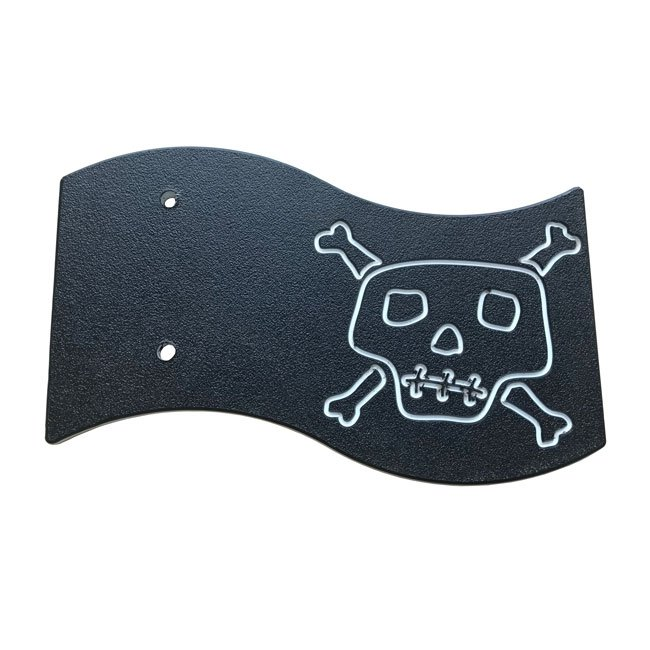 Black Engraved Ships Pirates Flag Including Fixings For Mounting On Any Play Structure
