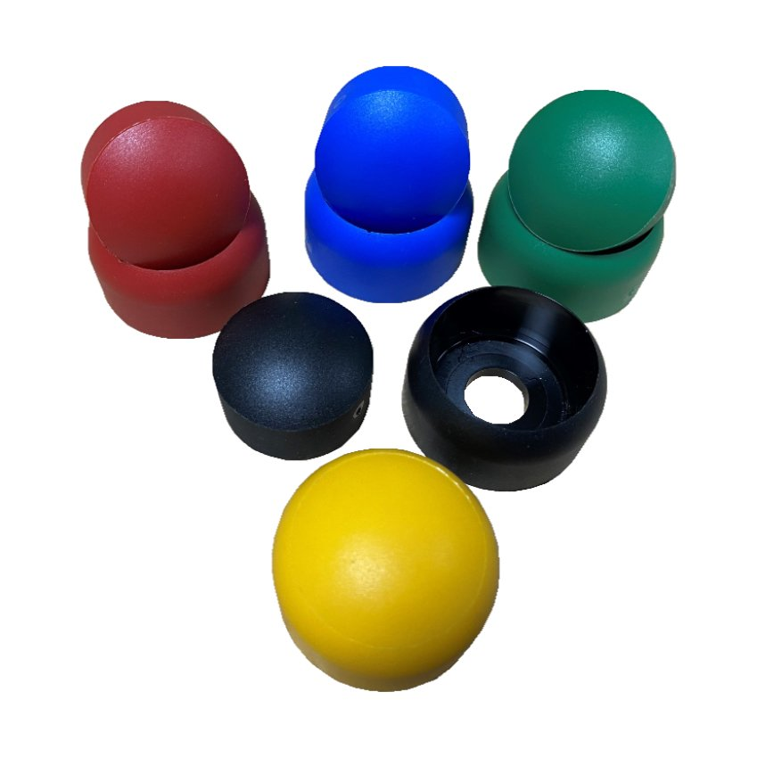 Do-Nut Style Bolt Cover Two Part Playground Equipment Fixing Protection Caps In Various Colours