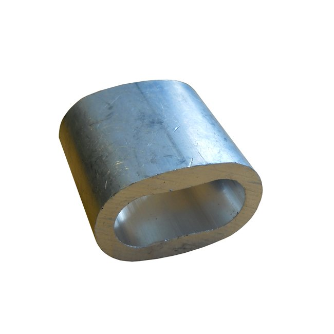 Long Aluminium Swaging Ferrule For Use With 16mm Steelcore Combination Playground Ropes