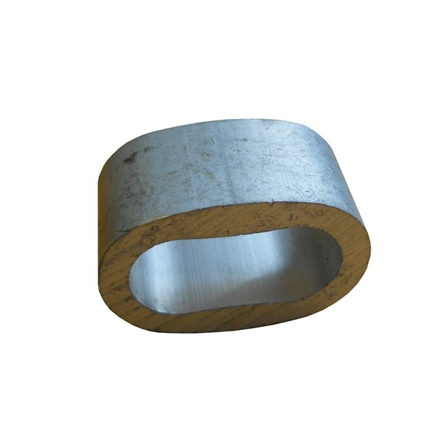 Short Aluminium Swaging Ferrule For Use With 16mm Steelcore Combination Playground Ropes