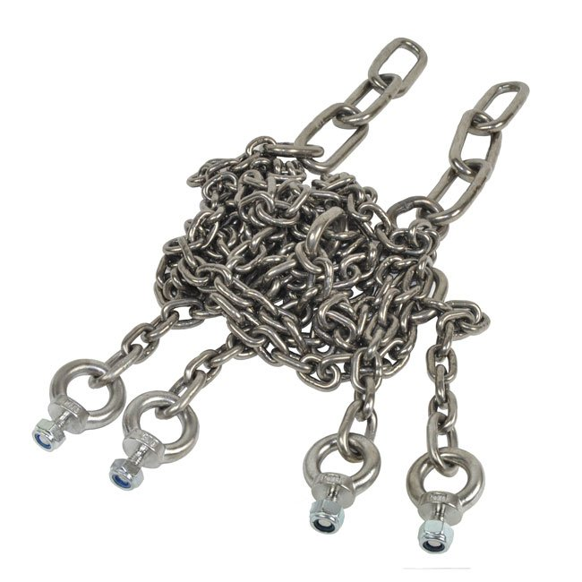 Stainless Steel 6mm Diameter Playground Swing Chains In Traditional Style With 3 Large 8mm Connecting Links