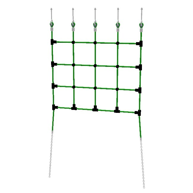 Platform Access Nets with 250mm mesh centres, chain tails and a choice of top fixings