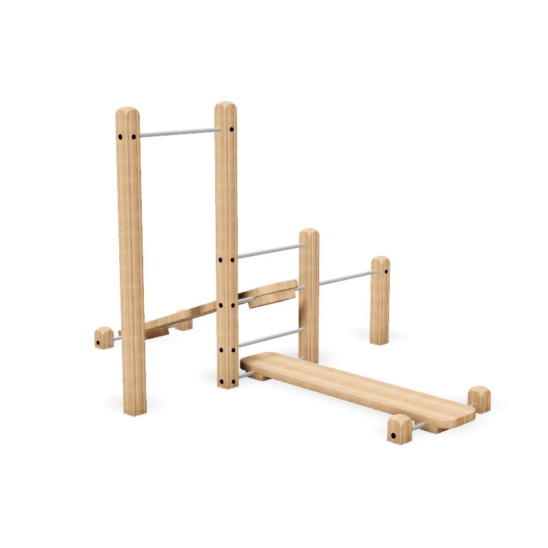 Compact Group Fitness Trail Station