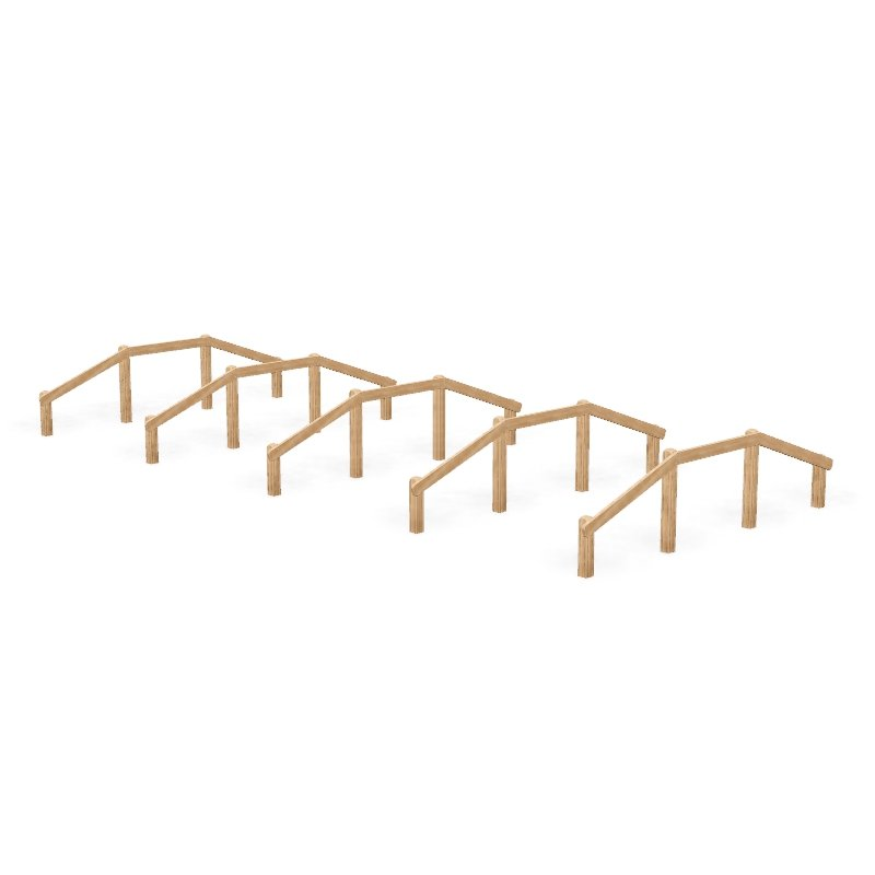 Over and Under Hurdle Fitness Trail Station