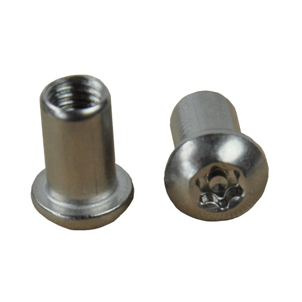 Button Dome Head Torx 6-Lobe Pin Security Barrel Nut