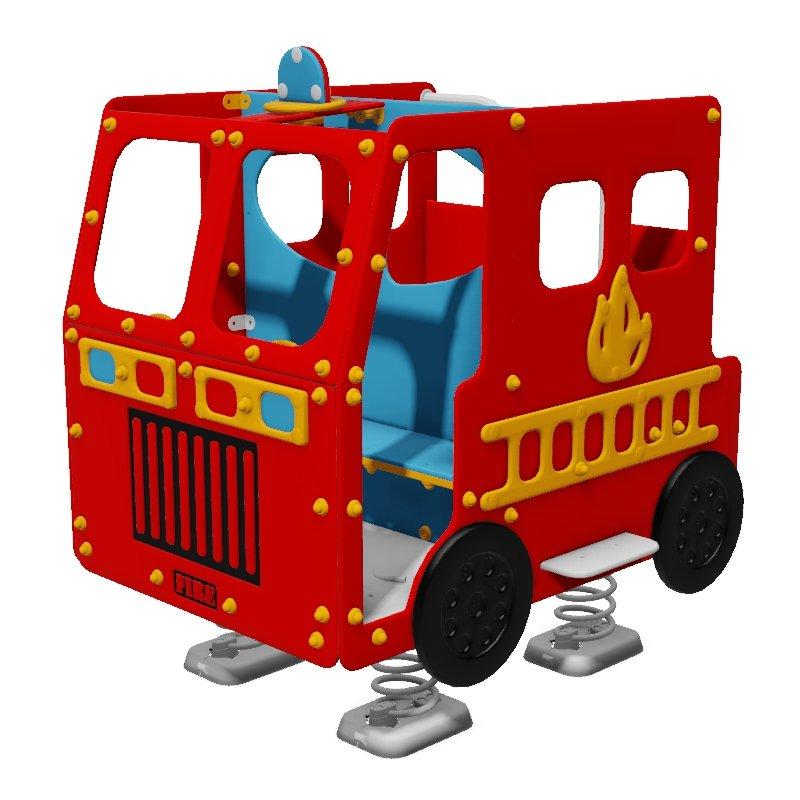 Fire Engine Spring Rocker
