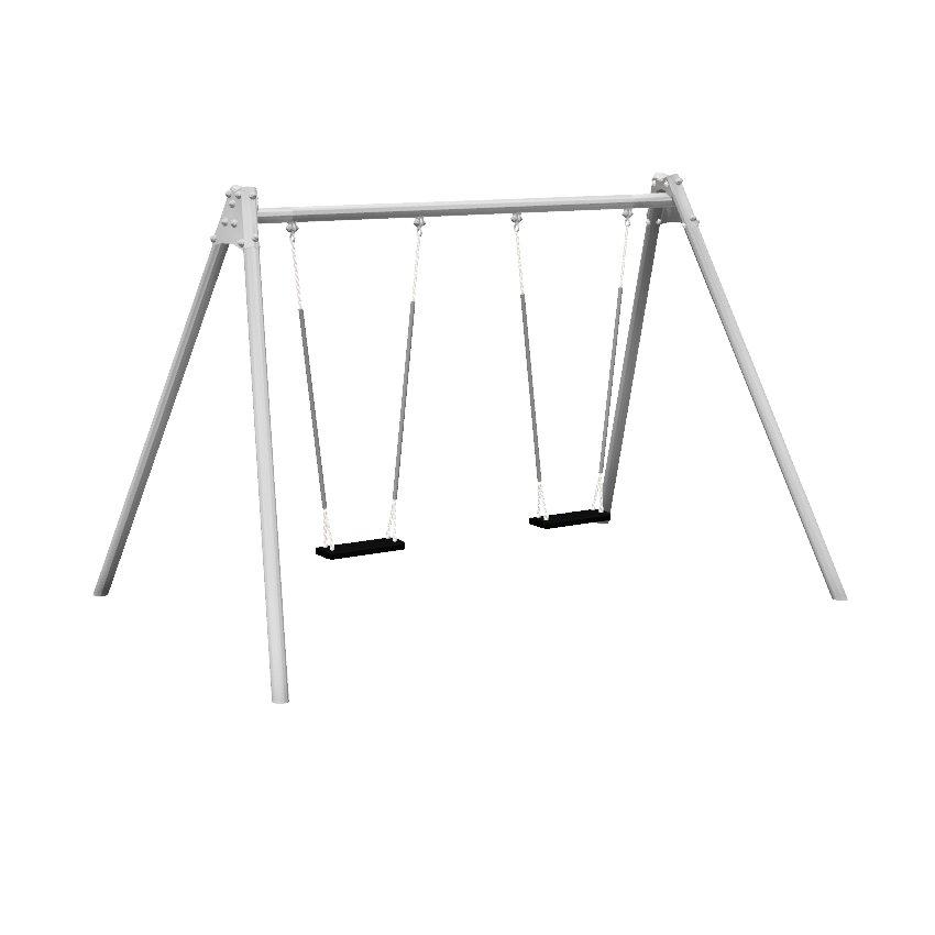 1 Bay 2 Seat Junior Steel Swing