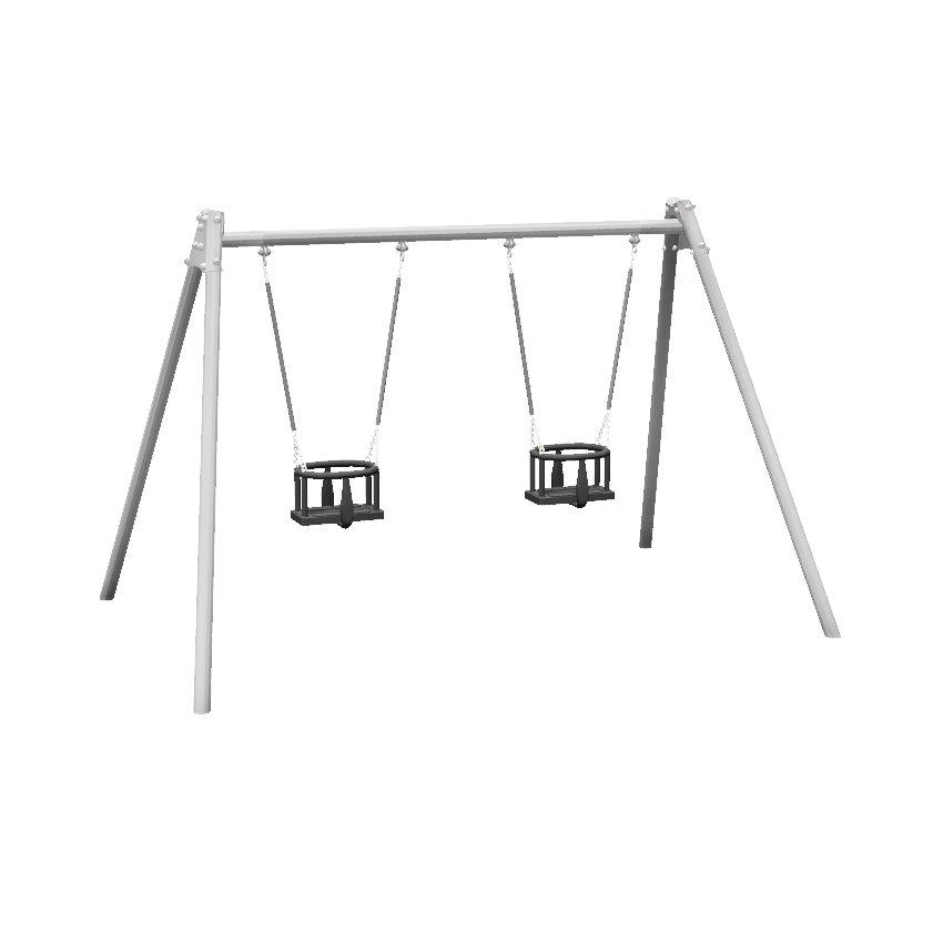 1 Bay 2 Seat Toddler Steel Swing