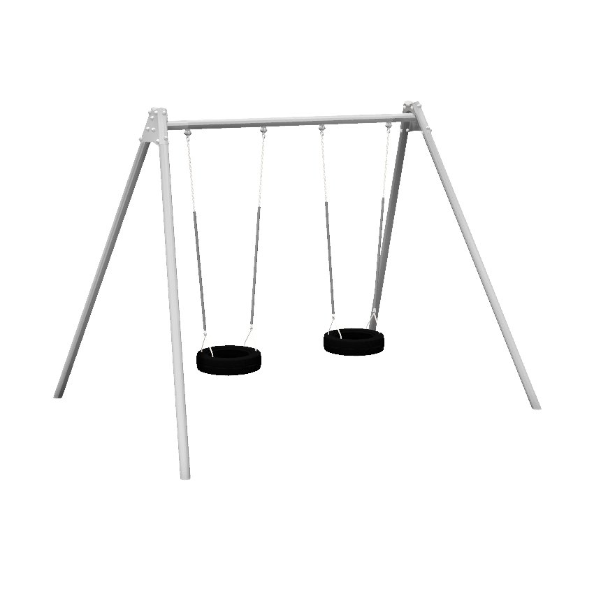 1 Bay 2 Seat Tyre Steel Swing