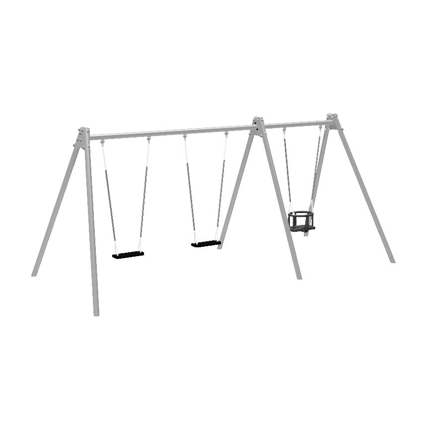 Double Bay Junior and Toddler Seat Steel Swing