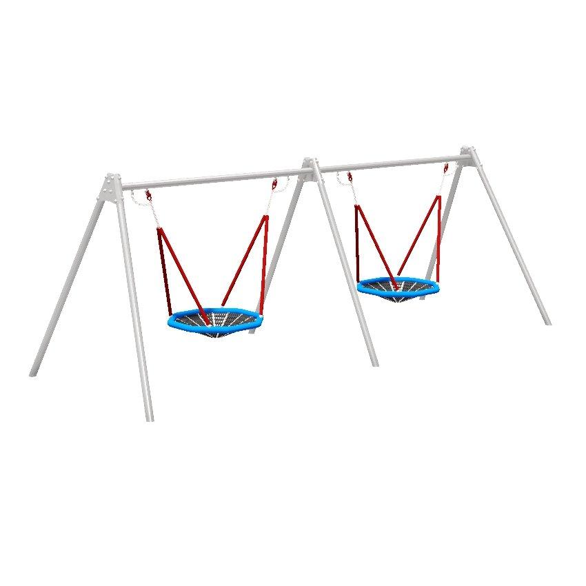 Double Birds Nest Steel Swing