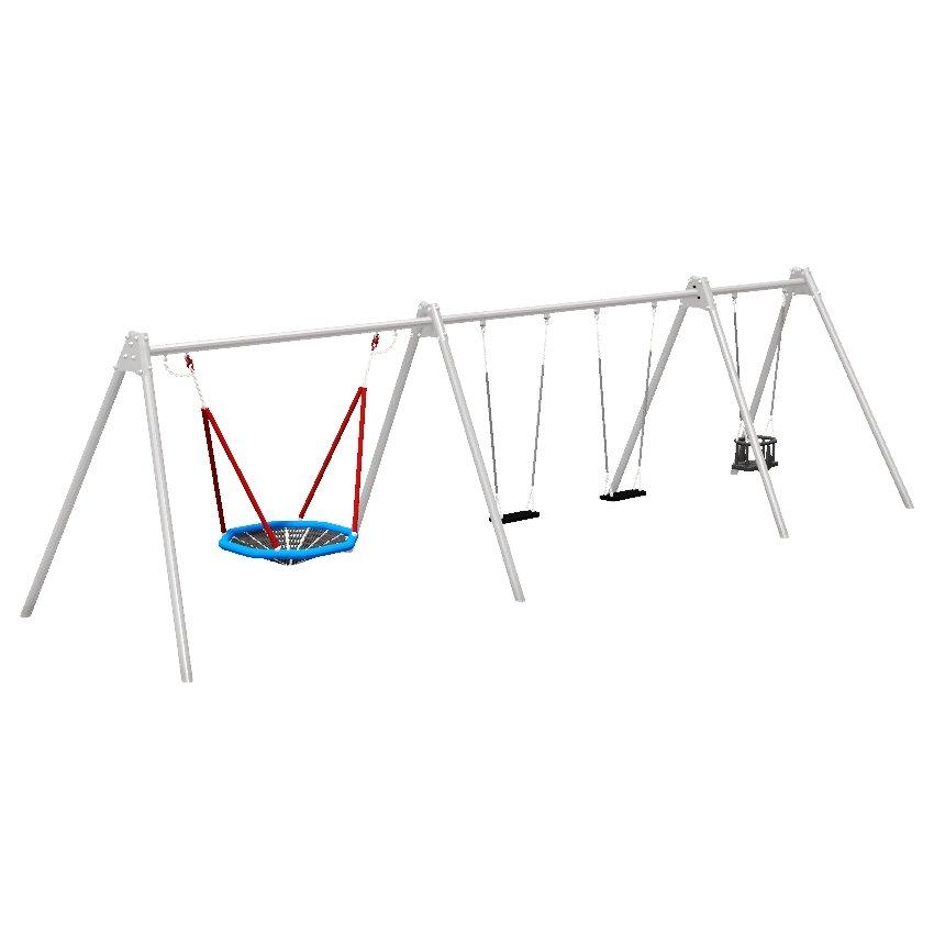 Multi Seat Combination Steel Swing