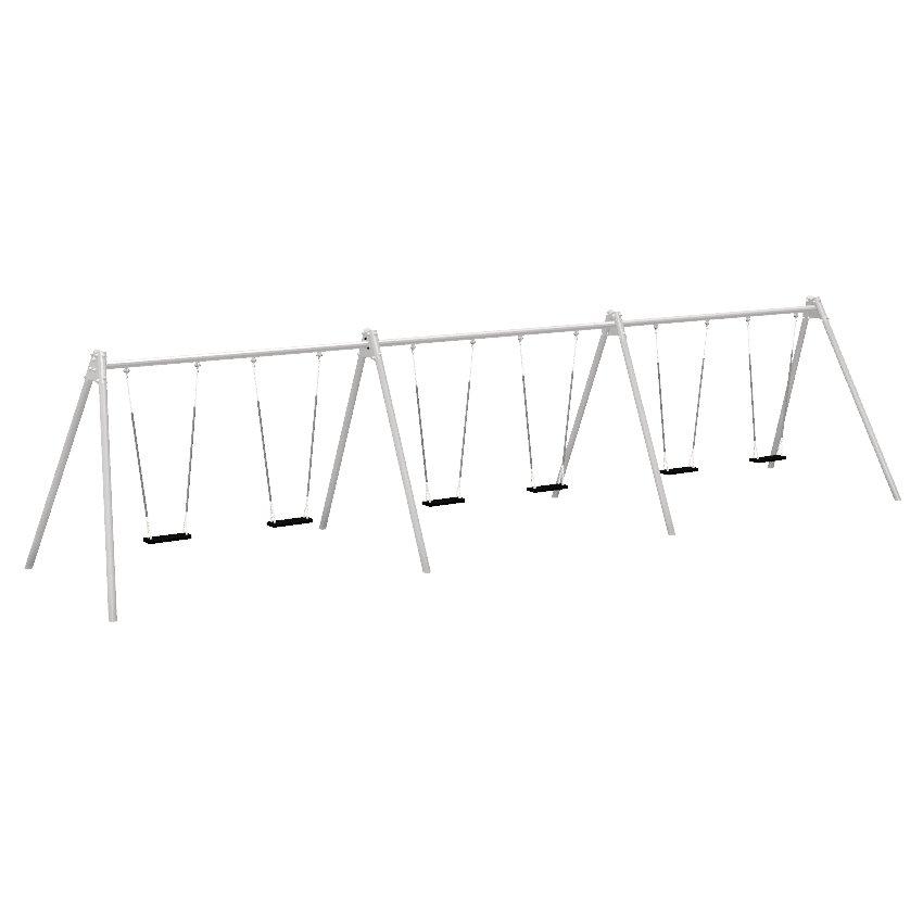 Triple Bay 6 Seat Junior Steel Swing