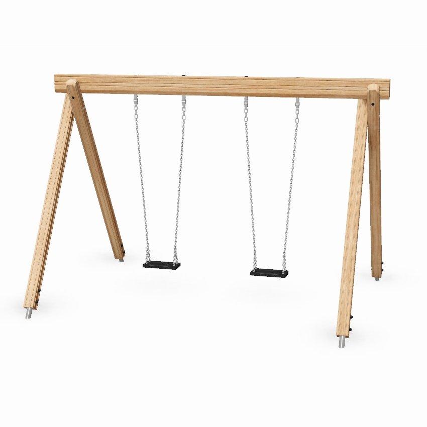 Single Bay Junior Wooden Swing
