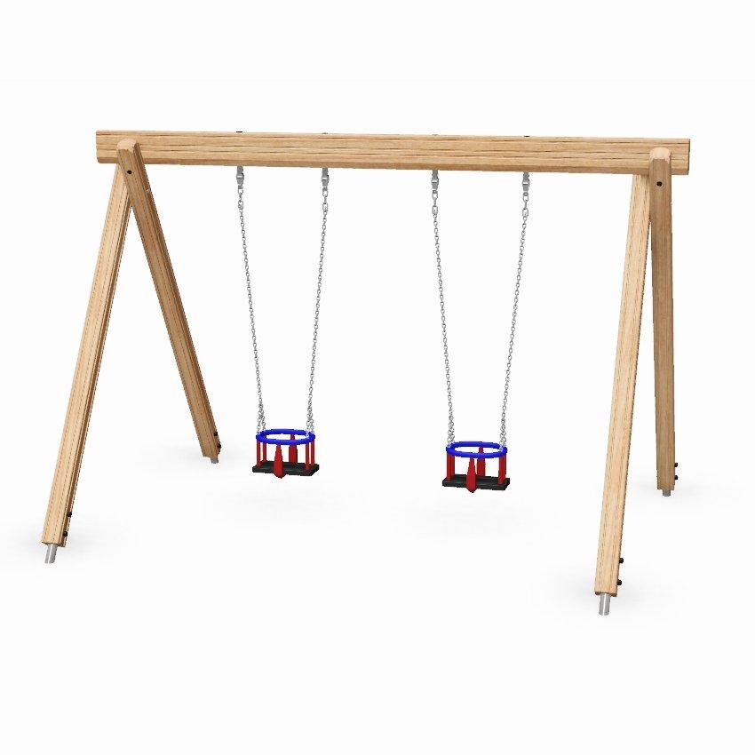 Single Bay Wooden Toddler Swing