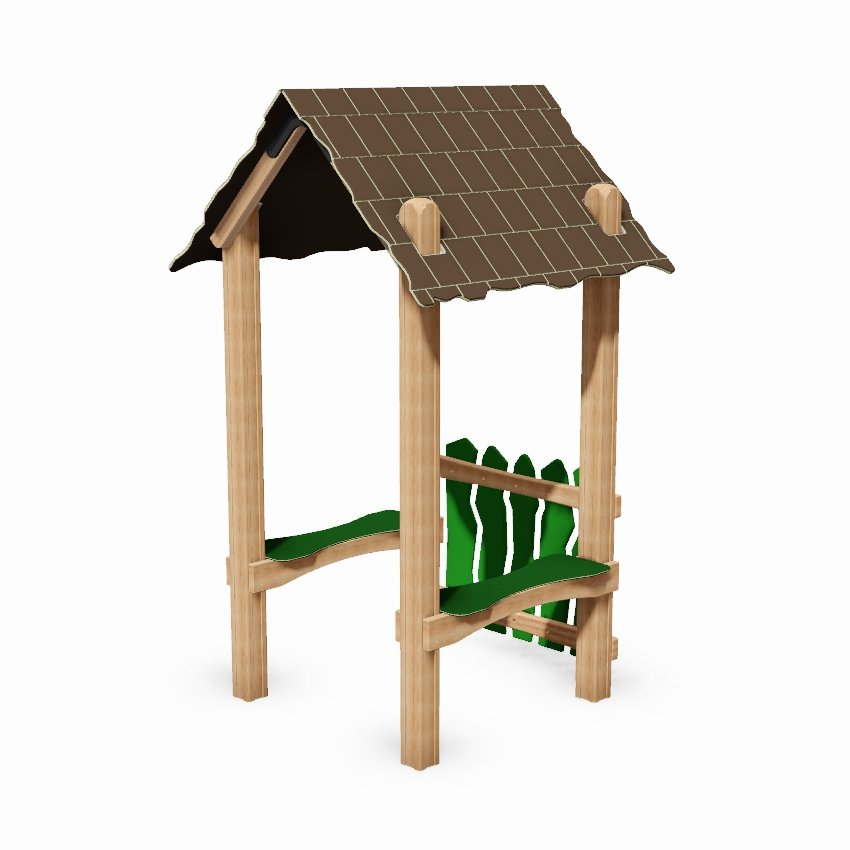 Mini Playground Seated Shelter with Barrier