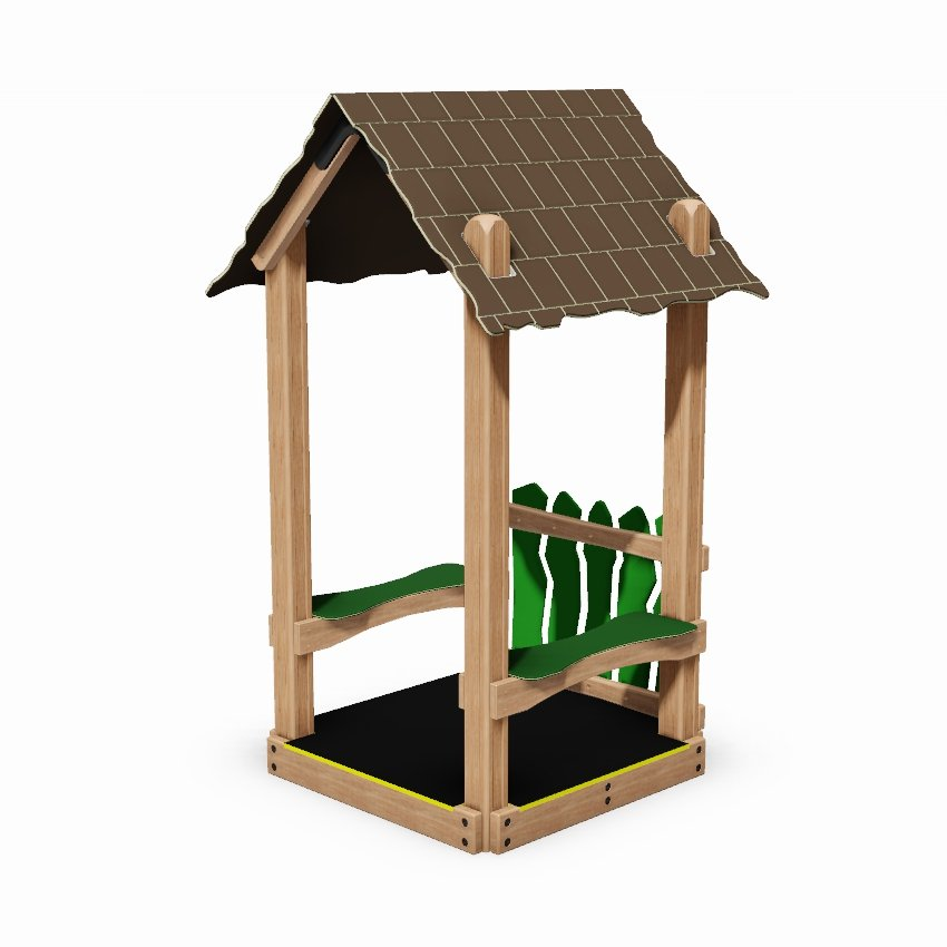 Mini Playground Seated Shelter with Barrier and Floor