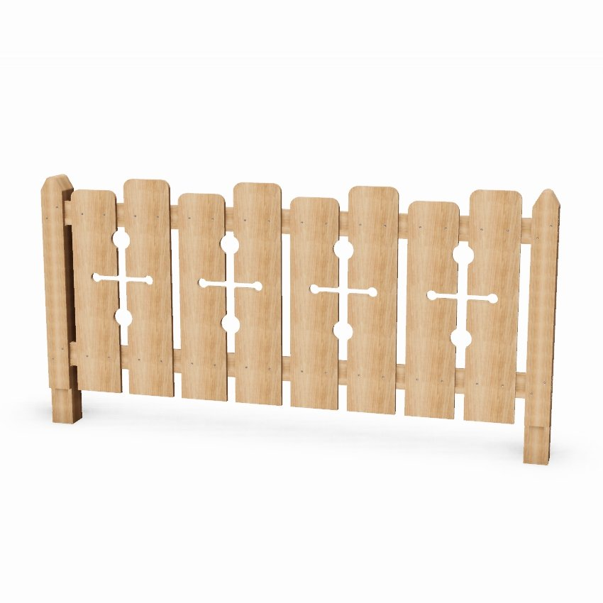 Wooden Castle Playground Fencing