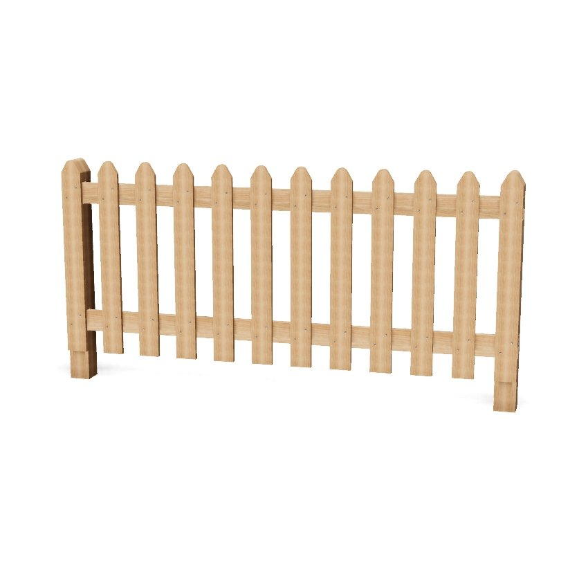 Wooden Palisade Playground Fencing