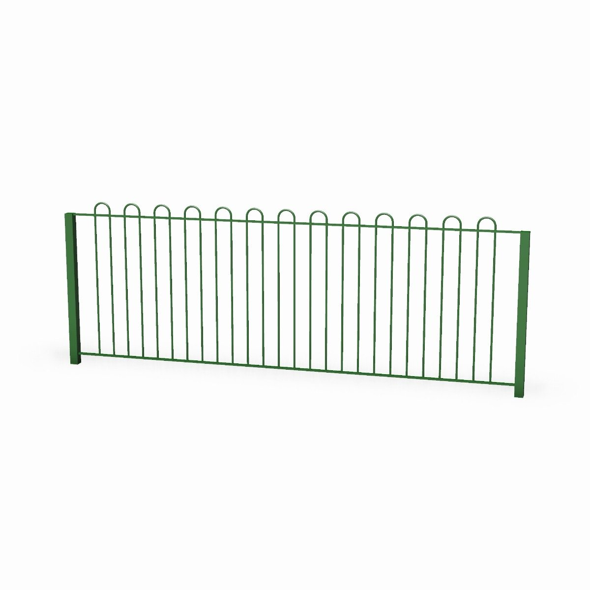 Steel Bow Topped Playground Fencing