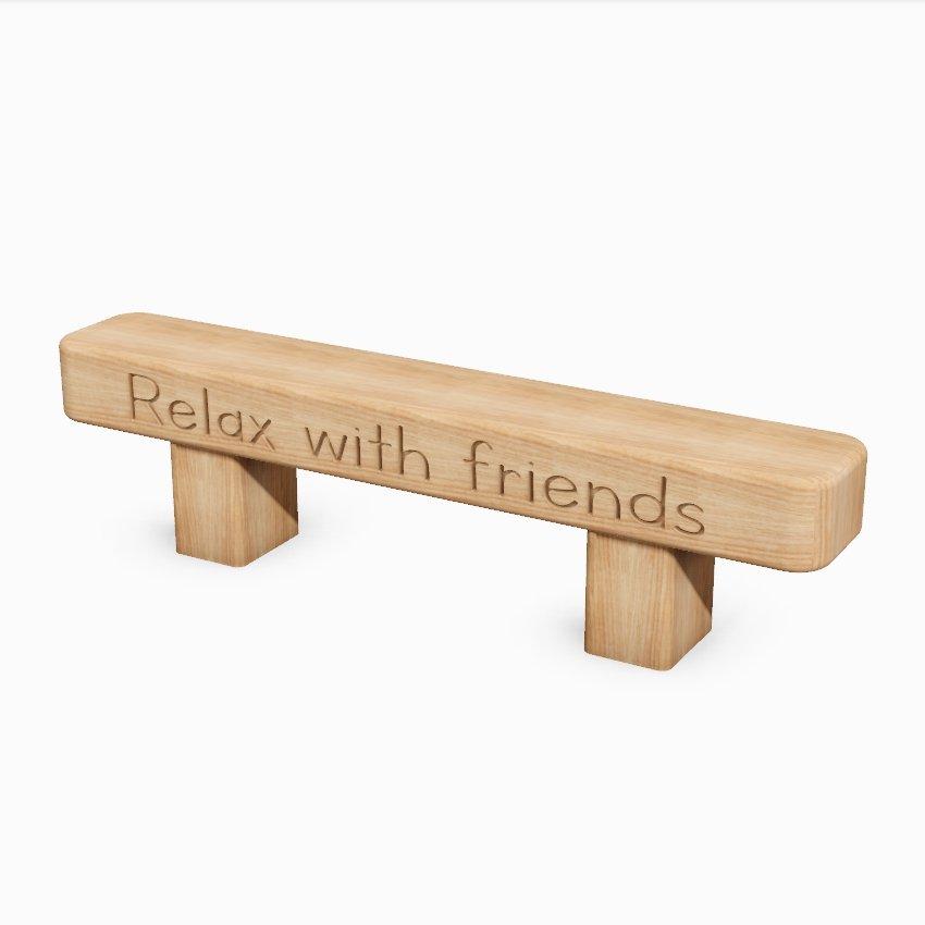 Children's Low Level Wooden Sleeper Bench - Small