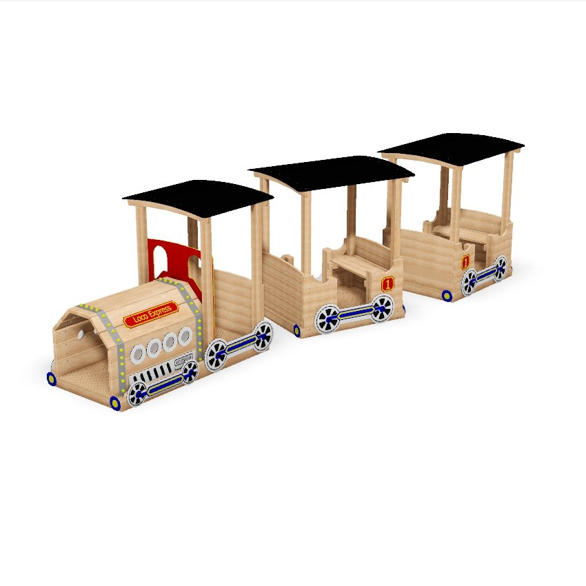 Play Train with Carriages