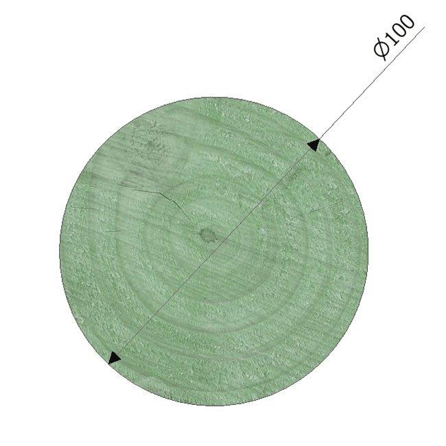 100mm Diameter Pressure Treated Radiata Pine Poles Suitable For Building And Maintaining Playground Equipment
