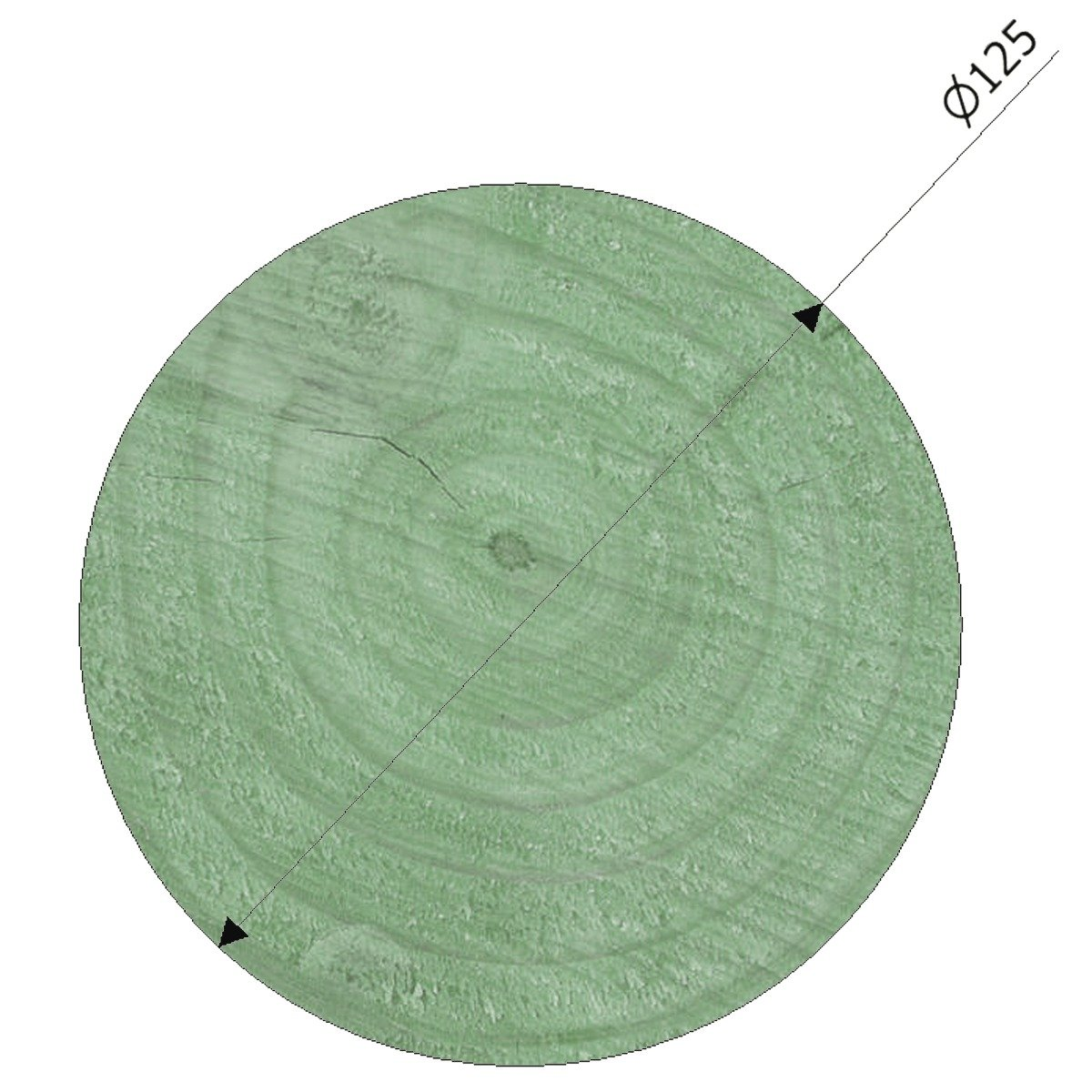 125mm Diameter Pressure Treated Radiata Pine Poles Suitable For Building And Maintaining Playground Equipment