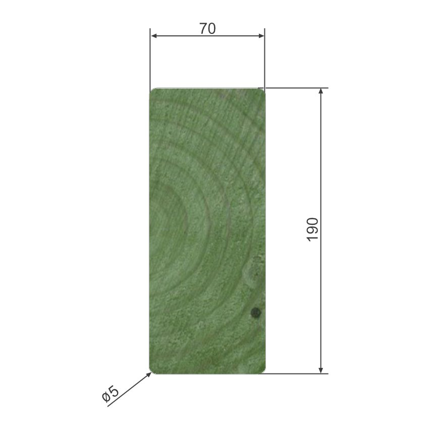 70mm x 190mm Planed and Treated Timbers Suitable For Building And Maintaining Playground Equipment