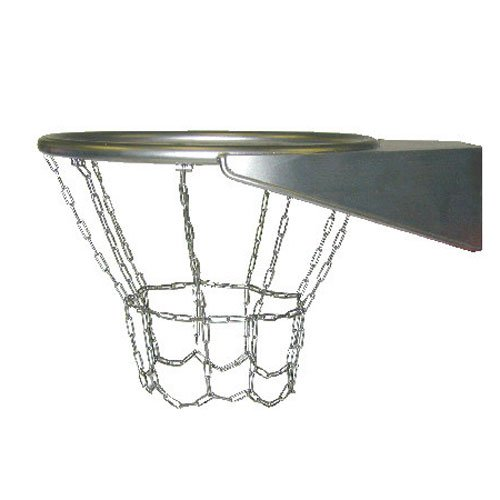 Heavy Duty Stainless Steel Basketball Hoop Complete With Vandal Resistant Chain  Net