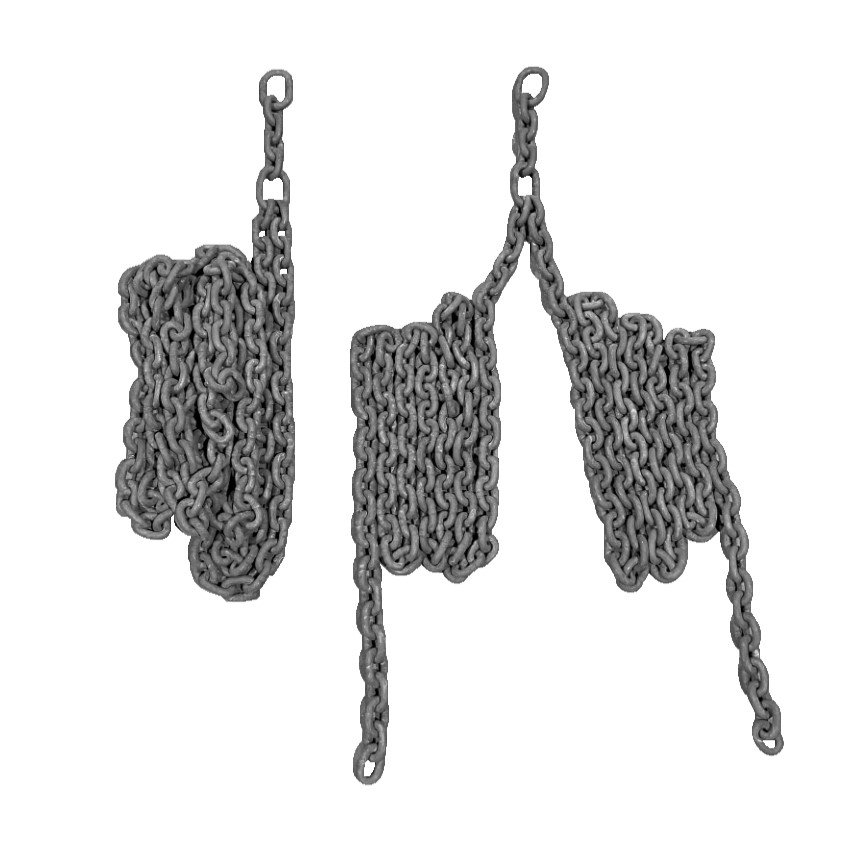 Universal Two Point Birds  Nest / Group Swing Chains In 8mm Short Pattern Swing Chain With Links To Connect To Seat And Hanger