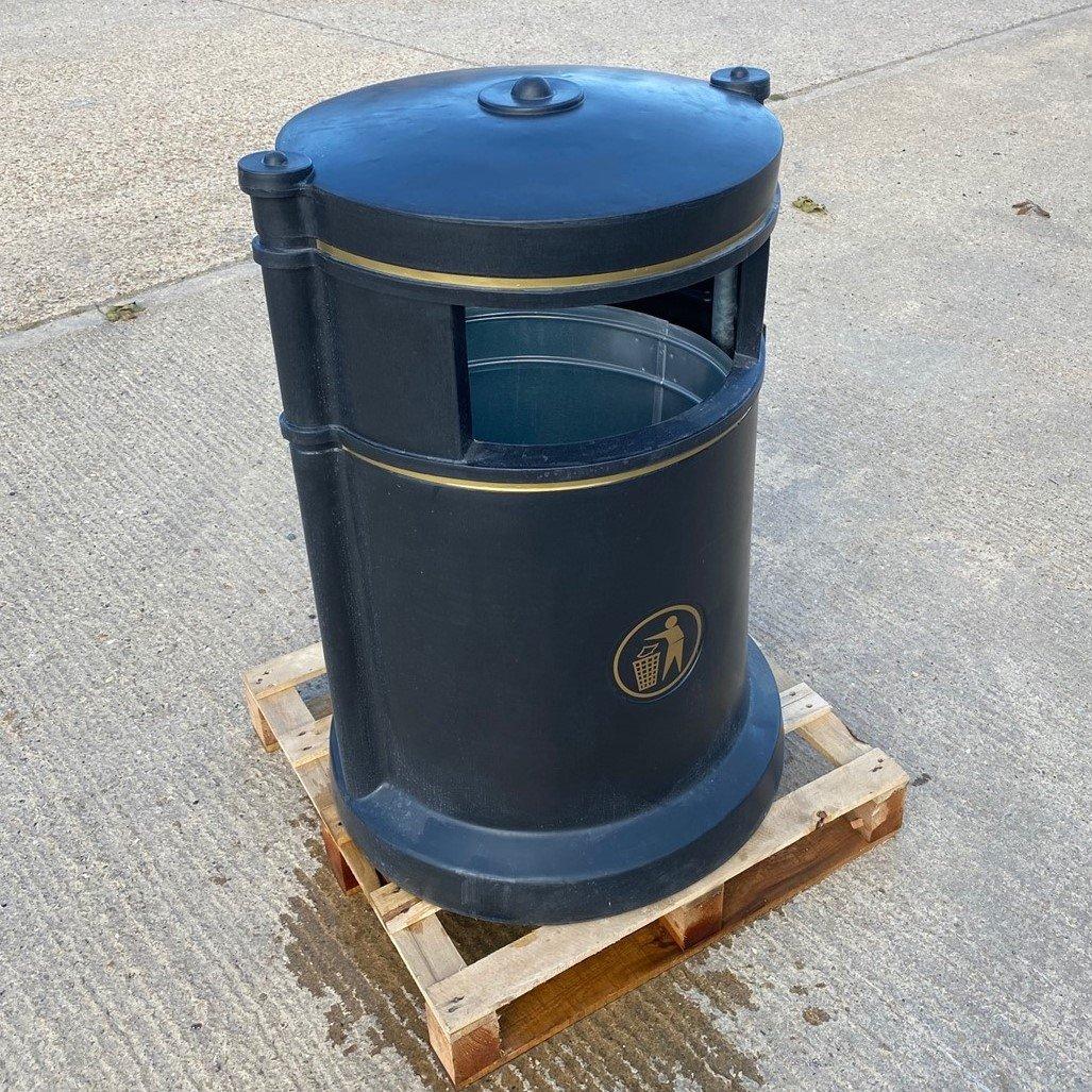 Trafflex Round High Security Litter Bin - 180 Litre