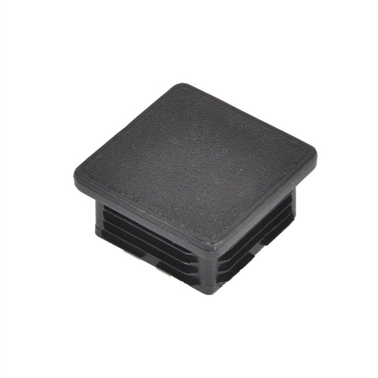 Square Black Steel Box Section Insert Protection End Caps