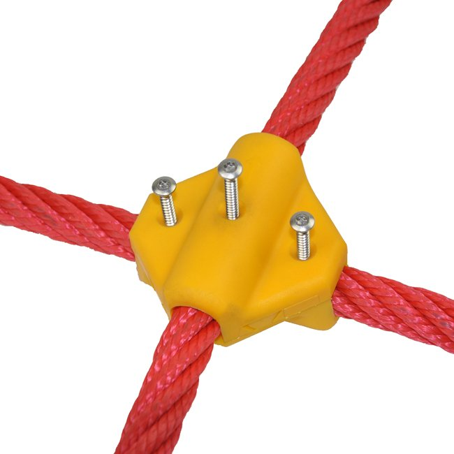 Cross Over Heavy Duty Rope Connector For 16mm Combination Playground Nets In Various Colours