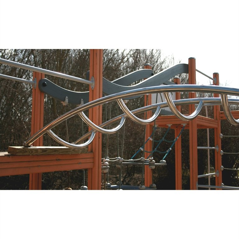 Arched Climbing Ladder in Stainless Steel for Children's Play Tower