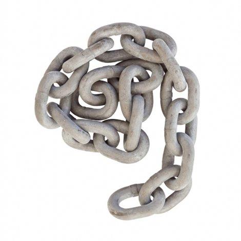 8mm Sheradised Mild Steel Short Pattern Link Swing Chain Compliant to EN1176 Available Per Metre.