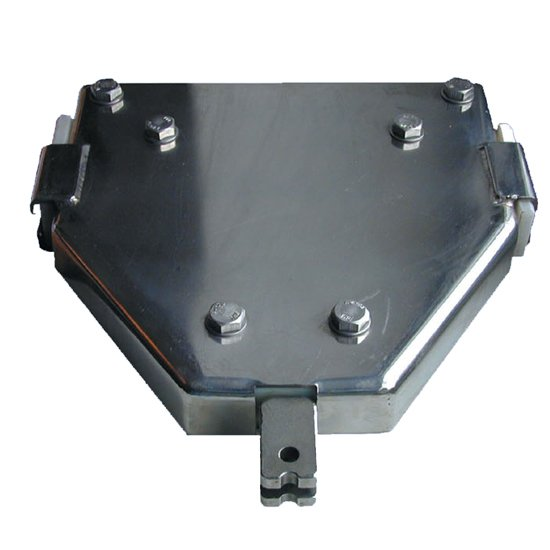 Aerial Cableway Zip Wire Trolley In Stainless Steel With Braking System And Cable Finger Guards