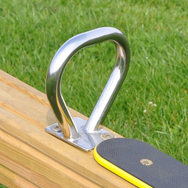 Stainless Steel Hand Grip For Round And Flat Timber