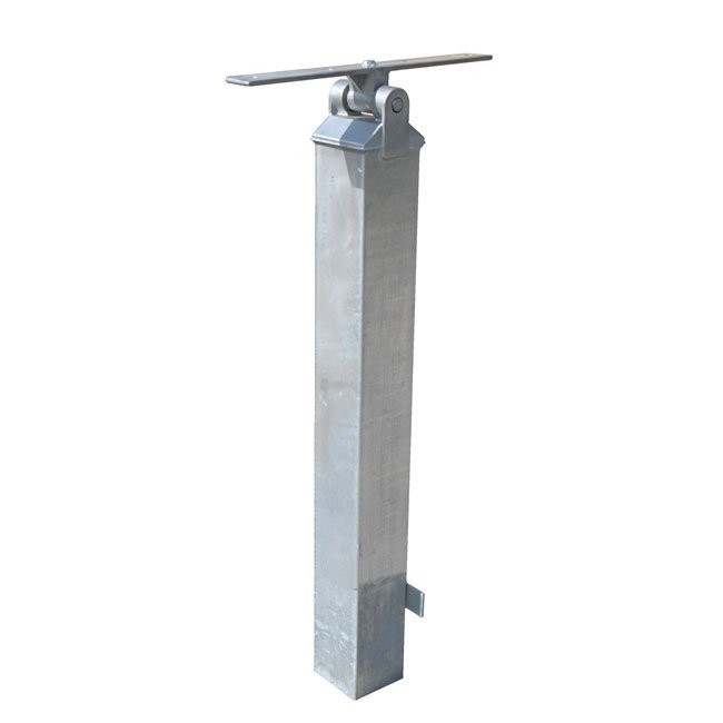 Galvanised Seesaw Post with Bearing Block - S4