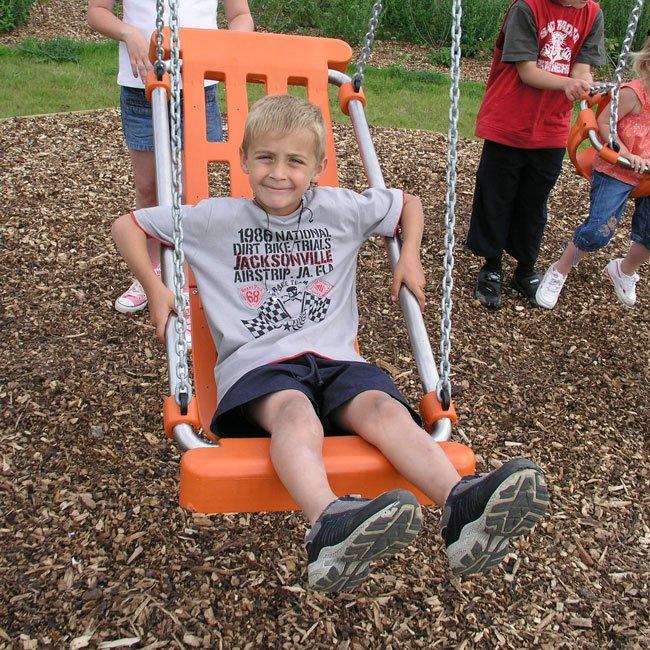 Sutcliffe Childrens All Inclusive Boat Style Swing Seat In Orange