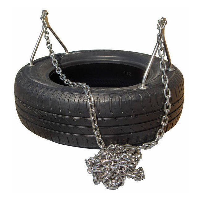 Children's Tyre Swing Seat Including Stainless Steel Tyre Suspension Bracket And Chains
