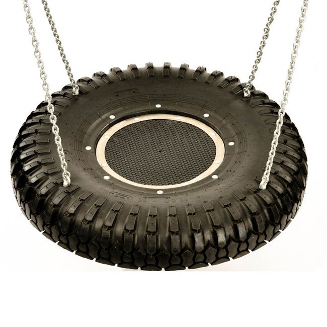 Half Truck Tyre Childrens Group Swing Seat With Rubber Infill And Four Eyebolt Suspension Anchors