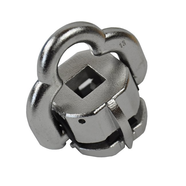 Flexible Universal Chain Connector For Attaching Chains To Timbers Used With The Construction Of Children's Play Structures