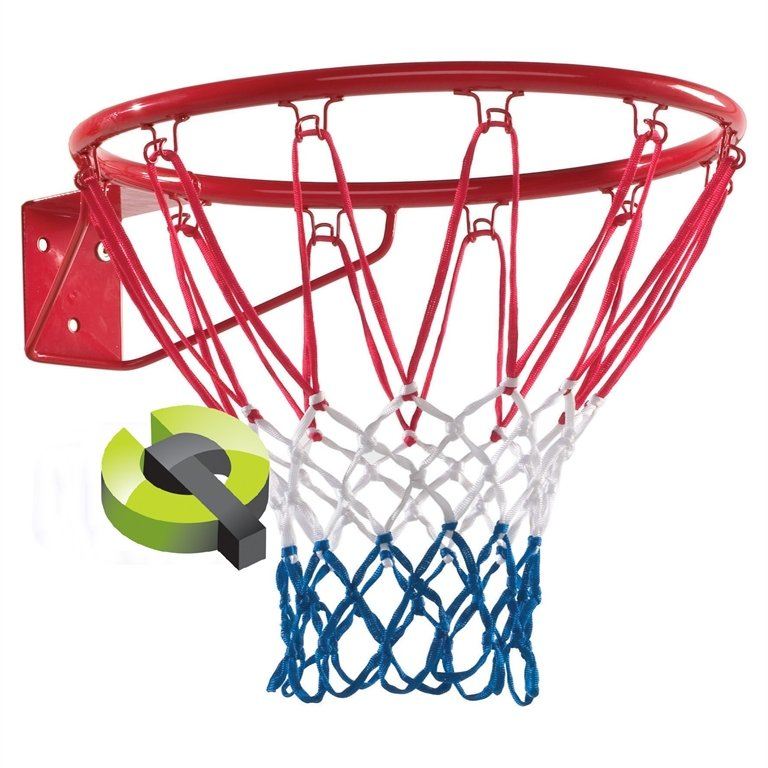 KBT Basketball Ring Powered Coated Red Complete With Net.
